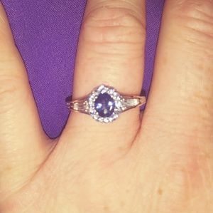 Tanzanite/White Topaz Ring
